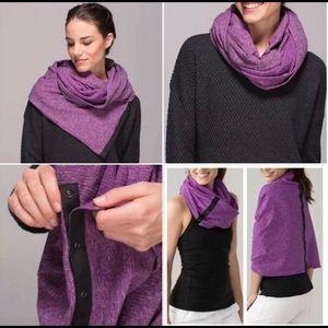 Lululemon Vinyasa Scarf purple/grey